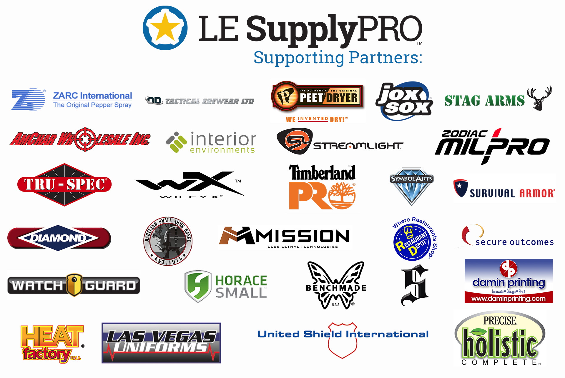 LE Supply PRO Supporting Manufacturers